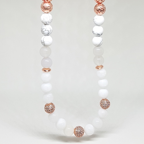 Sparkle Collection - Rose Gold & White Necklace