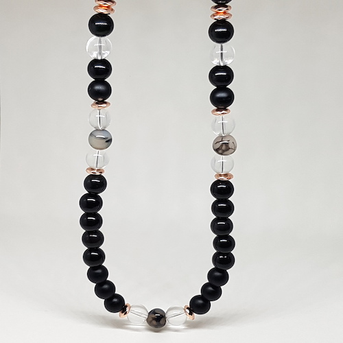 Everyday Love Collection - Onyx & Quartz Necklace