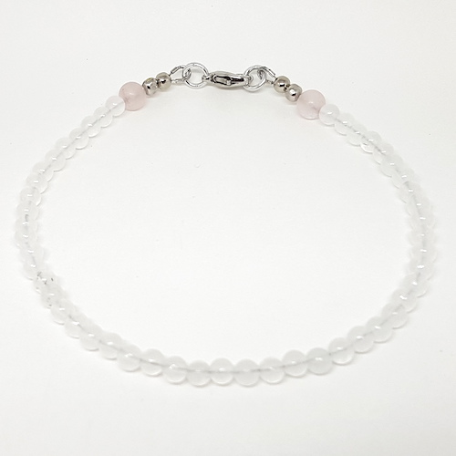 Anklet Collection - Quartz and Frosted Rose Quartz