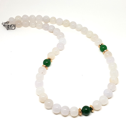 Forget Me Not Collection - Jade and Agate White